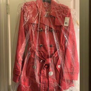 Calvin Klein Pink Rain Jacket NWT $139 in Plastic